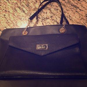 kate spade A La Vita Exotic Halsey Black Bag